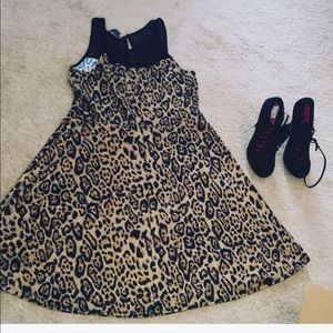 Animal Print Dress& Madeline Pumps